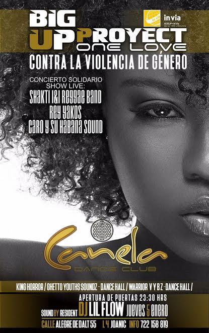 Festa solidària a la Sala Canela en benefici del projecte BigUp i l'eradicació de la violència masclista
