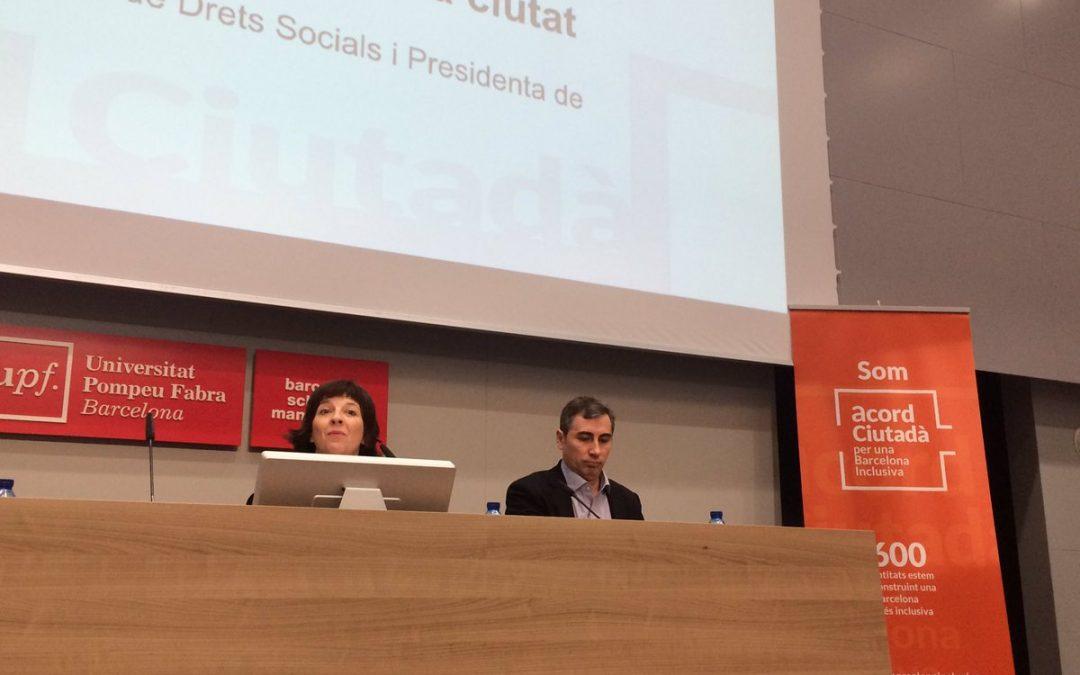 L'Acord Ciutadà treballa el Pla d'Inclusió social a l'Assemblea Anual 2017
