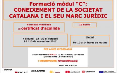 """Curs sobre """"Coneixement de la societat catalana i el seu marc jurídic"""""""