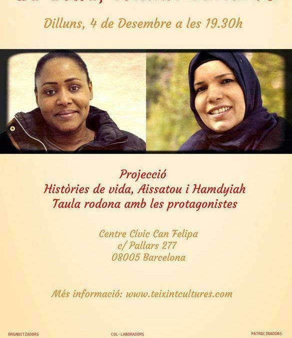 """Us convidem a la projecció d' """"Històries de vida"""", que té entre les seves protagonistes a Hamdyiah, una usuària de l'entitat"""