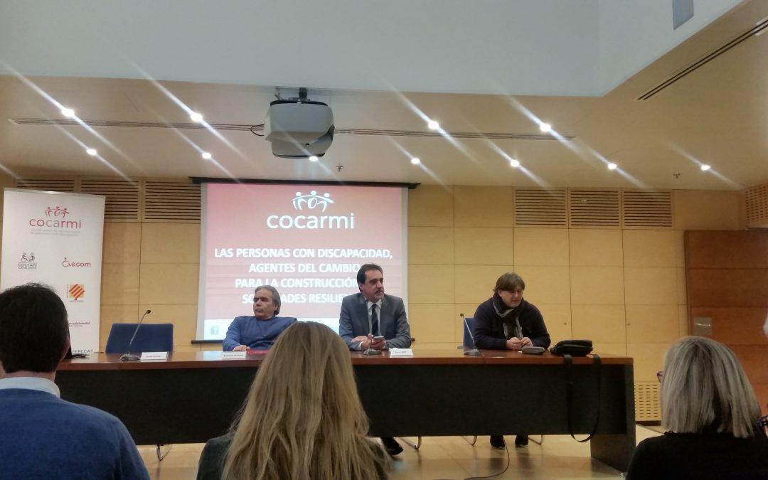 Asistimos a la jornada de COCARMI para commemorar el Día Internacional de las personas con Discapacidad
