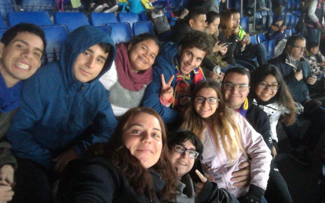 In via, en el Camp Nou gracias al Día del Socio Solidario
