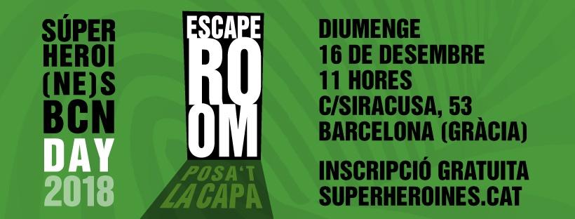 Inscríbete al Escape Room de las Superheroi(ne)s BCN!